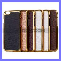 Football Pattern Golden Frame Case for iPhone 6 Plus Hard Plastic Case