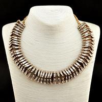 2014 Newest ZA Brand Rhinestone Necklaces & Pendants Design Unique Fashion Women Statement Jewelry