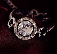 2014 new Korean sweet romantic fashion classic Super Flash zircon hollow large round  bracelet temperament  S6040