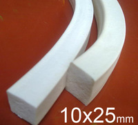 10X25mm 10mm width 25mm height Silicone foam strip,silica gel Sealing strip, Silicone Article sponge Square bar flat bar