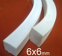 6X6mm 6mm width 6mm height Silicone foam strip,silica gel Sealing strip, Silicone Article sponge Square bar flat bar