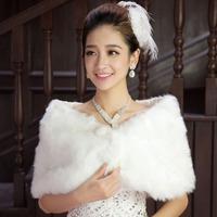 New Winter Chawl Plush  Scarf Wrap Pearl Women Accessaries Evening Dress Bridal Wedding Banquets Cape Stole Stole Shrug Bolero