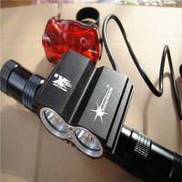 12000mAh battery 5000 Lumens 2x CREE XM-L U2 LED Cycling Bike Bicycle Light  Lamp HeadLight Headlamp & Real light Free Shipping