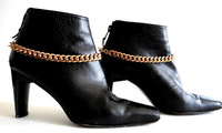 BB-009 60pc/lot free shipping  toggle buckle chunky gold boot chain bracelet jewelry