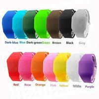Mens Womens Digital LED Touch Sports Silicone Bracelet Waterproof Wrist Watch