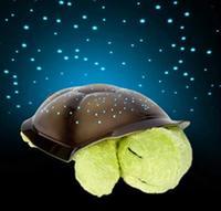 Creative Projector Star Lamp Turtle LED Nightlight Music Projector Lamp Plush Turtle Toys Christmas Gift Comfortable Lighting