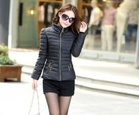 Free Shipping casaco Feminino Inverno 2014 Winter Jacket Women Slim Office Ladies Zippers Plus Size Coats Jaquetas