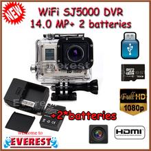 original AM KOV SJ5000 WIFI Sport action camera DVR 14.0 MP 2/3CMOS Full HD Digital DVR compatible with Go Pro accessories(China (Mainland))