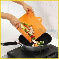 Ultra Thin Slim Hanging Chopping Block Flexible Plastic Fruit Vegetable Cutting Board Kitchen Utensils Tools