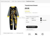 Free shipping children clothing kids George Transformers boy Camouflage long full  romper onesies pajamas pyjamas