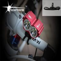 Free shipping 5000 Lumens 2x CREE XM-L U2 LED Cycling Bike Bicycle Light  HeadLight Headlamp & Adjustable headband