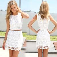 2014 Women Lace Dresses Casual Vestidos Femininos Women Lace Dress Plus Size Fashion Sexy Cute Vest Slim Hip Dresses C019