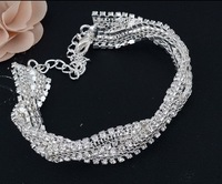 2014 new arrivals jewelry fashion brand crystal charm bracelets for women party jewelry free shipping