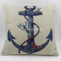 Free shipping 18''X18'' Anchor the Mediterranean nostalgia originality sofa chair office cushion cover pillow cover