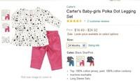 Carter Brand Winter children clothing set baby Girls clothes Girl clothes kids clothes sets t-shirt+pants suit
