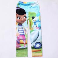 new Doc Mcstuffins girls pants 5-9Y girls pants 100% cotton girls pants for children kids girls trousers free shipping