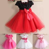 1Pc Retail NEW 2014 Summer Girl Dress Elegant Dress Party Baby Girl Princess Dress Children Clothing Christmas Dress 14 Colors