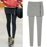 2014 Winter 100&% Women's Skirt Leggings Casual Skinny Pencil Pants Female Stretch Zipper Slim Trousers YSK029