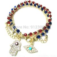 Women's fashion Jewelry charm hamsa hand Lucky Evil Eye Beads Bracelet