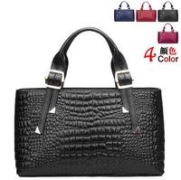 Guaranteed 100% genuine leather bag crocodile embossed leather women handbags fashion women shoulder tote bags messenger bag