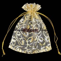 Free shipping 100pcs 9.3x11.5cm Sheer Organza Jewelry Gift Pouch Bags 4908