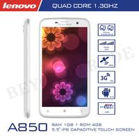 Original Lenovo A850 Cell Phones MTK6582 Quad Mobile Phone 1G RAM 4G ROM 5MP Camera 5.5''IPS Screen Smartphone Android Phone