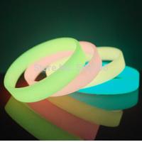 Stylish Glow in the Dark Rubber Bracelets/Luminous Blank Rubber Bracelets