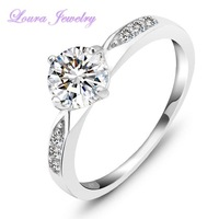 New Women's 925 Sterling Sliver & CZ Diamond Engagement Rings Fashion Classic Valentine jewelry Gifts