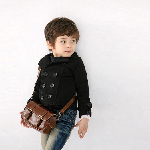 326 Free shipment boys clothing double breasted short design turn-down collar small suit jacket thickening(China (Mainland))