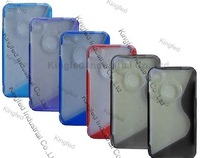 200pcs/Lot TPU S Line Design GEL Case Cover Skin for iPhone 4 4G 4S