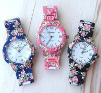 New Fashion Floral Flower GENEVA Watch GARDEN BEAUTY BRACELET WATCH Women Dress Watches Quartz Wristwatch Watches AW-SB-1150