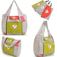 420D Nylon Foldable Large Eco Shopping Bags Reusable Women Shopping Bag With Hanger French Bolsas (37X30X10cm)