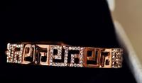 2014 new fashion retro romantic elegance domineering European and American big hollow bangle bracelet geometric graphic   S6059