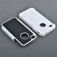 100pcs/Lot Rugged Rubber Matte Combo Hard Case Cover Soft Gel Skin for iPhone 4 4G 4S 4th