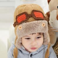 Autumn and winter hat pilot plus velvet ear child warm hat male hat child children hats Ear protector