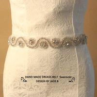 Min order $10 Free shipping Best sale Bride bridesmaid Belt dress Sash shinning rhinestone waistband Wedding oranments BW23