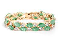new design sweet zircon bracelet fashion statement jewelry gift for wife 2014 Christmas gift wholesale jewelry 17 CM M294