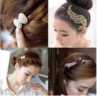 2014 Korean Fashion  cute Headwear Hair Accessories New Lovely Metallic Lady  Hair bands