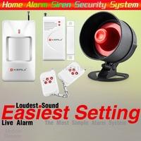KERUI Wireless Home Alarm Siren System Security Alarm System For Home House PIR/Door Sensor Easiest Design