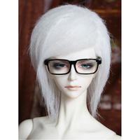 "[wamami] Fashion White Middle-long Wool Wig Hair SD DOD DZ 1/3 BJD Dollfie 8-9"""