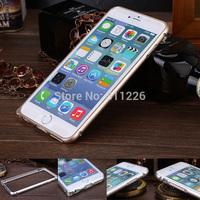 Luxury Ultra thin Metal bumper Slim Cleave Aluminum Hard Bumper Metal Case For Apple iphone6 5.5 inch