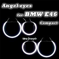 4 шт/набор белый красный ccfl ангельские глазки halo кольца комплект фар ДХО Автоаксессуары для гольф e30 e39 фокус coupecar упаковки света