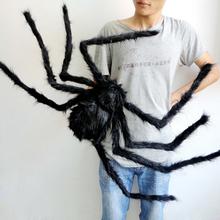 Divertido juguetes Spider man 30 - 200 cm de la felpa corta Scary Halloween decoración atrezzo relleno Kids Fun Gadget de la novedad de terror Prop(China (Mainland))