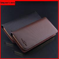Free shipping Factory direct men's business casual leather men's single pull purse tidal pull Clutch leather/men/