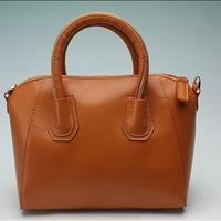 2014 fashion genuine leather handbag cowhide women's handbag
