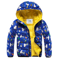 Child down coat male and girl child 2014 down coat thickening winter clothing