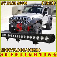 Free DHL Shipping 37'' 200W CREE LED WORK LIGHT BAR DRIVING LIGHT 4X4 COMBO BEAM IP68 FOR OFFROAD TRUCK 4WD ATV UTV USE 12V 180W