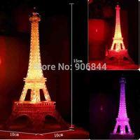 Eiffel Tower Mini Small Night Light Top Fashion Bakelite LED sensor lights Holiday luminaria Children birthday Christmas Lamp