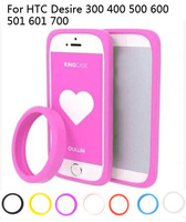 The multi-function bracelet bumper case ,silicone Anti-knock ring case  for HTC Desire 300 400 500 600 501 601 700,gift