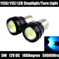 10pcs led 1156 1157 cree High Power 5W CREE Car Turn Signal Tail Stop Brake Light 12V H11 H12 T20 3156 3157 7443 parking moto g